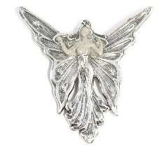 Large Art Nouveau Butterfly Fairy Brooch / Pendant