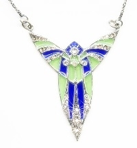 Classic 'Plique a Jour' Art Deco Necklace