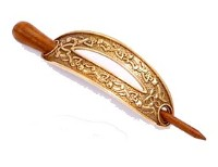 Saxon Bronze Hair Slide / Pin